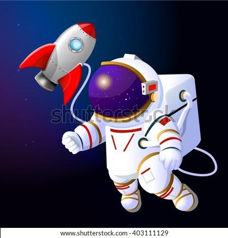 astronaut in space rocket -#main