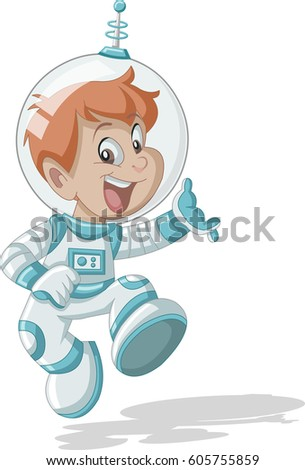 cartoon astronaut in outer space - photo #29