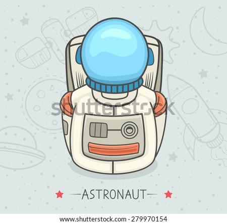 Astronaut icon. Profession. Vector illustration. - stock vector