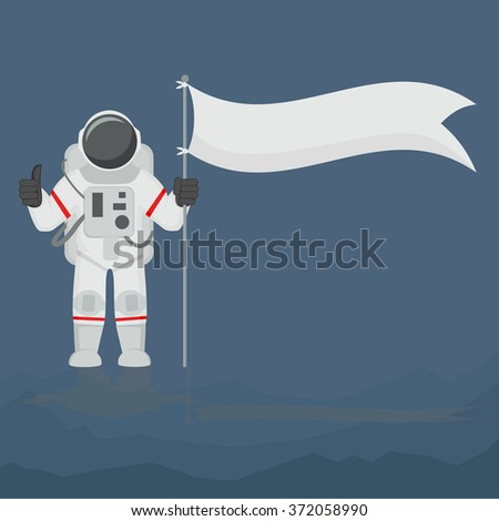Astronaut Isolated  - stock vector