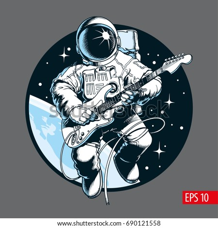 Illustrations stock images royalty free images vectors for Outer space guitar