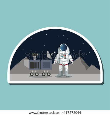 Astronaut sign. space concept. cosmos icon, vector illustration