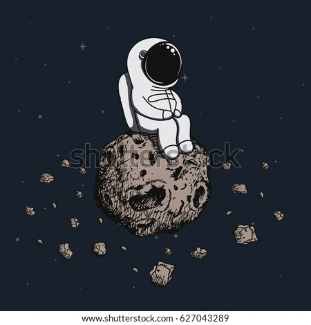 cartoon astronaut in outer space - photo #27