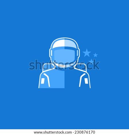 Astronaut Vector Avatar Flat Icon  - stock vector