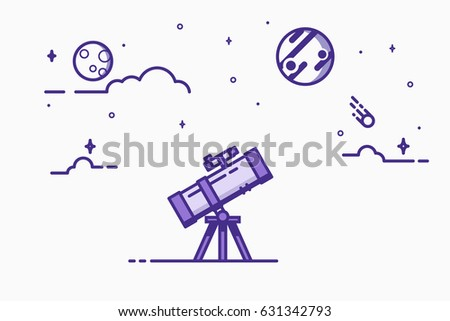 Astronomy stock images royalty free images vectors for Thin line tattoo artists near me