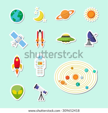 astronomy sticker icon