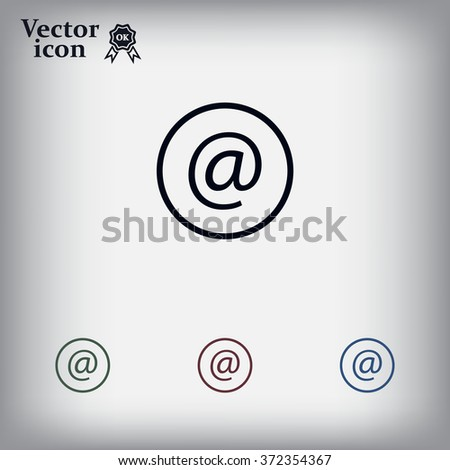 at sign icon illustration vector