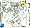 At the end of the maze is success, vector - stock photo