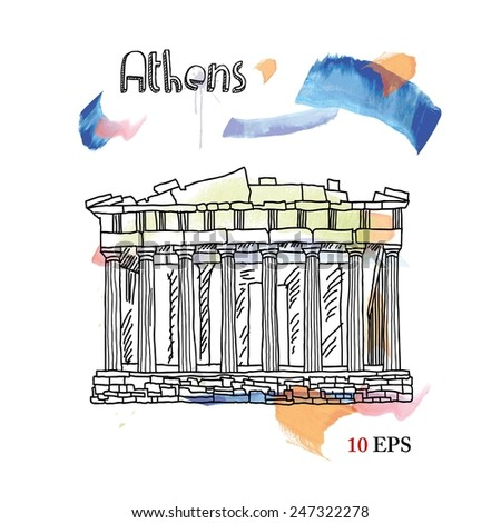 Athens - stock vector