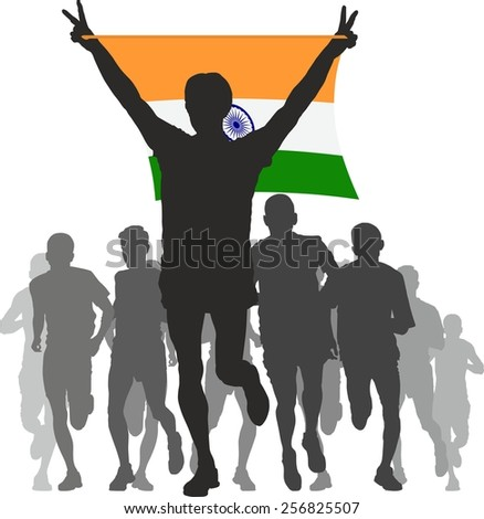 Athlete with the India flag