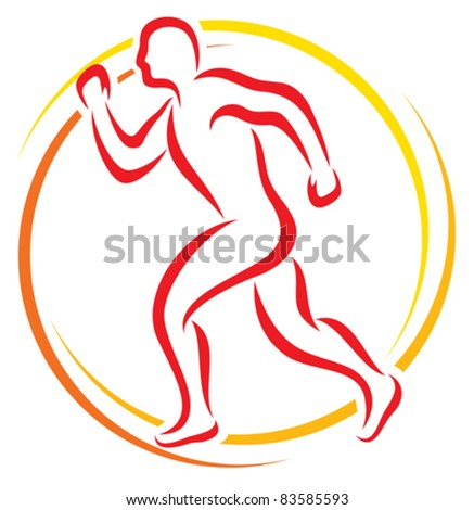 athletic - stock vector
