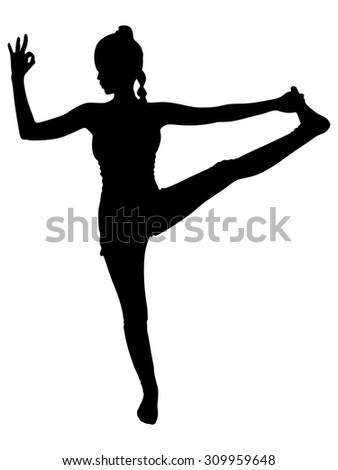 female dancer silhouette stock vector 75416008  shutterstock