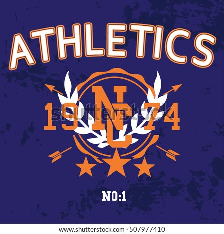 athletic new york,college graphics for t-shirt