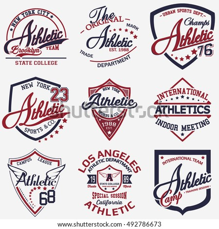 Athletic set of 9
