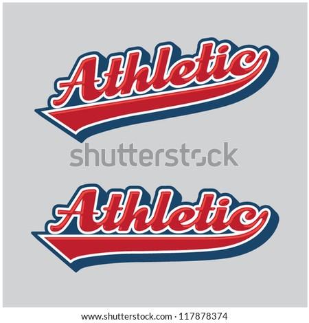 Athletic Sport Swoosh - stock vector
