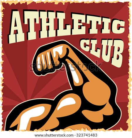 Athletic typographical vintage grunge style poster. Retro vector illustration.