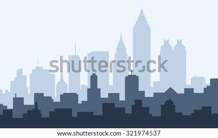 Atlanta City Morning Skyline