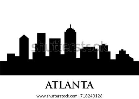 atlanta skyline vector stock vector 2018 718243126 shutterstock rh shutterstock com