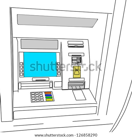 ATM bancomat - stock vector