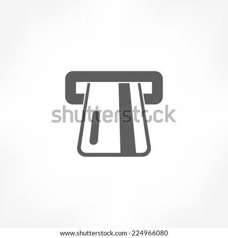atm card slot icon  - stock vector