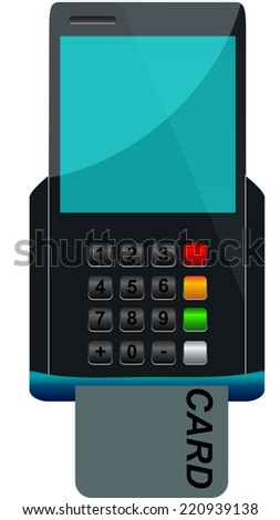 atm credit machine - stock vector