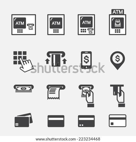 atm icon - stock vector