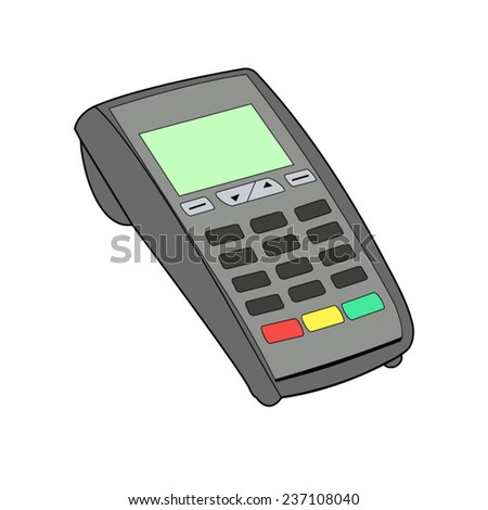 ATM keypad and POS-Terminal - simple icons