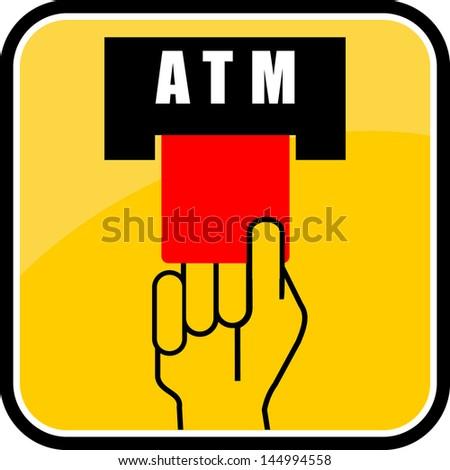 ATM, sign vector - stock vector
