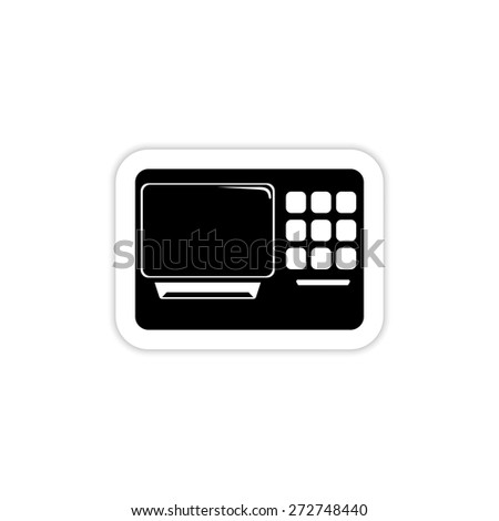 ATM. Single icon on a white background with shadow  - stock vector