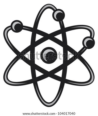 atom - stock vector