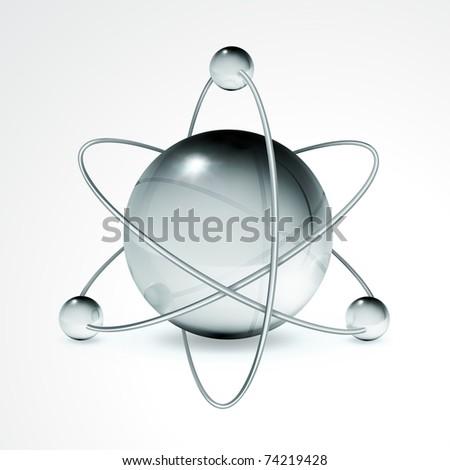 Atom, 10eps - stock vector