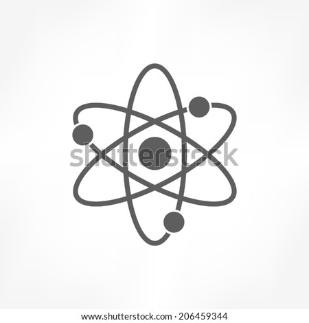 atom icon  - stock vector