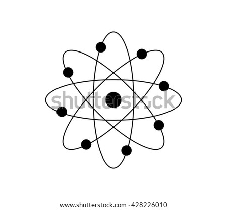 Atom icon atomic model atom structure stock vector 428226010 atom icon atomic model atom structure vector ccuart Image collections