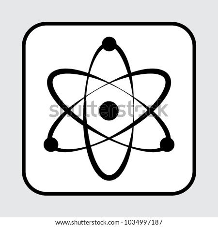Atom icon. Vector illustration