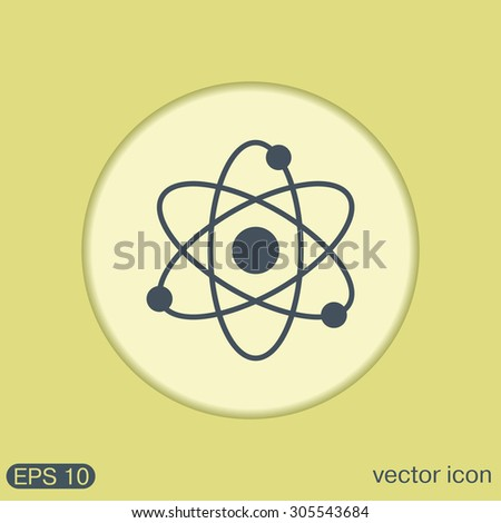 atom, molecule. the symbol of physics and chemistry. symbol icon of physics or chemistry . the study of science