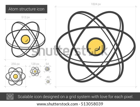 Atom structure vector line icon isolated stock vector 513058039 atom structure vector line icon isolated on white background atom structure line icon for infographic ccuart Gallery