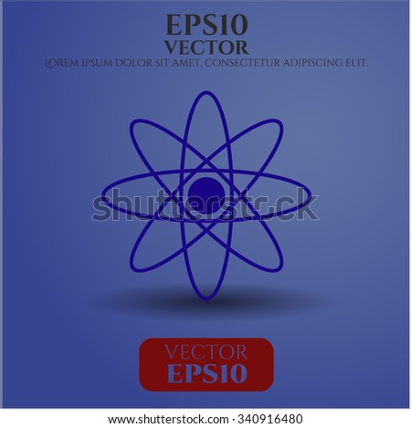 Atom symbol - stock vector