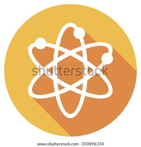 atom symbol flat icon - stock vector