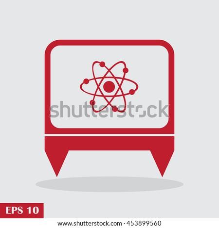 atom web design icon - stock vector