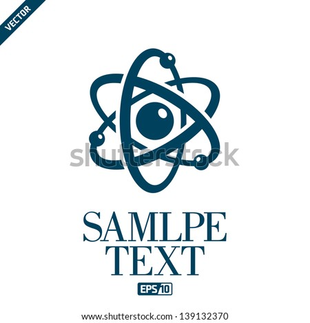 Atom symbol stock images royalty free images vectors shutterstock atomic structure ccuart Gallery