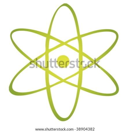 Atomic symbol - stock vector