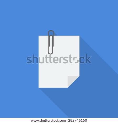 attach file icon - stock vector