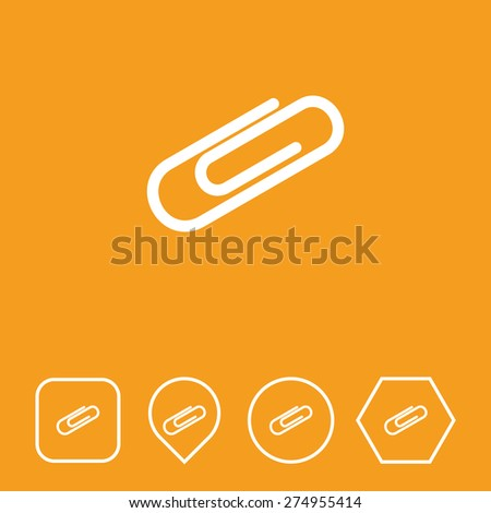 Attachment Icon on Flat UI Colors with Different Shapes. Eps-10. - stock vector