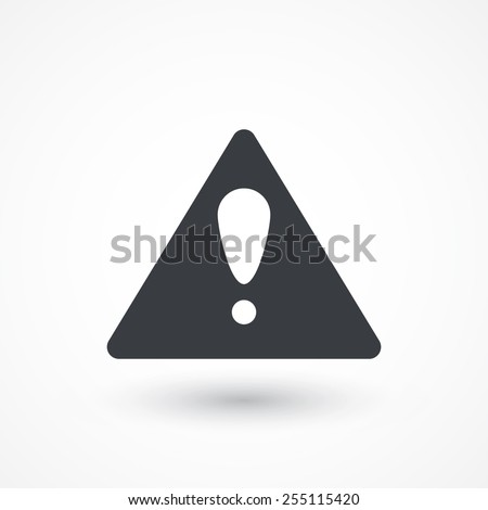 Attention caution sign icon. Exclamation mark. Hazard warning symbol - stock vector
