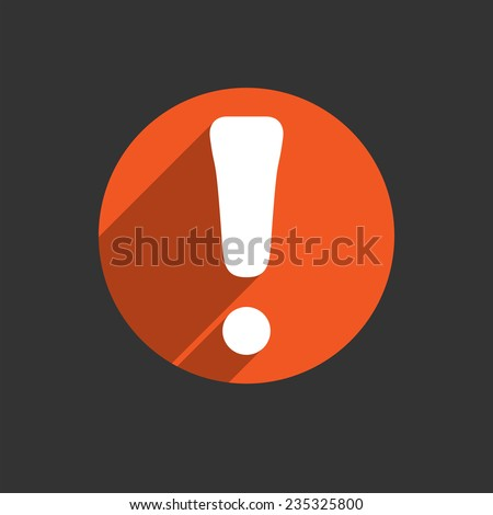 Attention caution sign icon. Exclamation quality mark. Hazard warning symbol. Four squares. Colored Flat design red button on black background. Vector illustration EPS 10 - stock vector