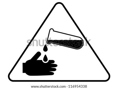 Attention - danger acid sign - stock vector