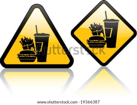 Attention Fast Food - stock vector