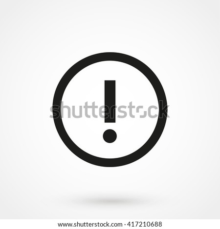 Attention icon isolated on background. Modern flat pictogram, business, marketing, internet concept. Trendy Simple vector symbol for web site design or button to mobile app. Logo illustration - stock vector