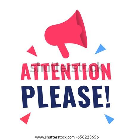 attention please vector illustration megaphone icon stock free megaphone clipart free clipart megaphone announcement