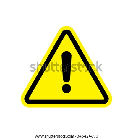 Attention sign, Hazard warning sign with exclamation mark symbol - stock vector